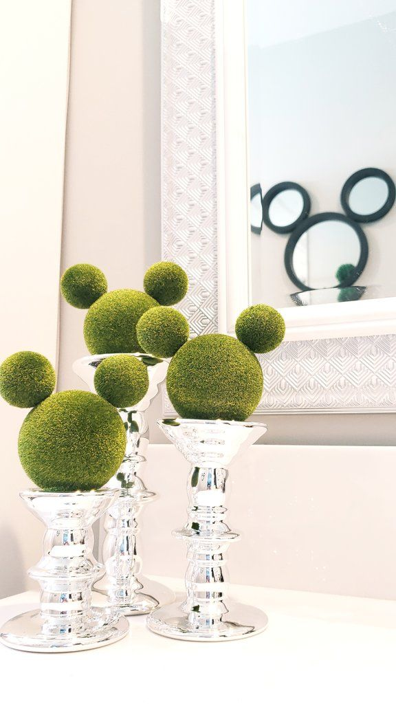 DIY Mickey Topiaries Under $10 #disneykitchen