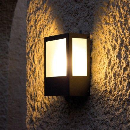 Prisma 102 greenart iluminacion aplique para exterior - Lamparas de pared exterior ...