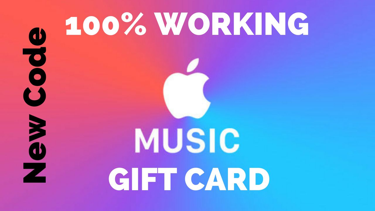 Music Gift Cards Free Apple Music Gift Card Code With Images