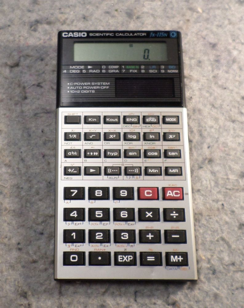 Vintage Casio Fx 115n Handheld Scientific Calculator Working C1b2 Casio Scientific Calculators Calculator Casio