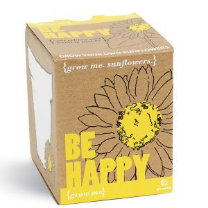 The Grow Me Sunflower gift box contains a packet of sunflower seeds and everything needed to grow your own little ray of sunshine. The joyful flower will help spread a little happiness with its sunny disposition  Find us on facebook at https://www.facebook.com/JNLondon