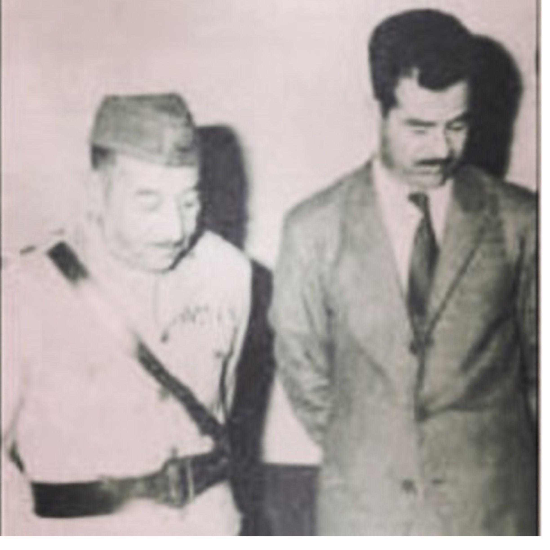 صدام حسين واحمدحسن البكر Baghdad Saddam Hussein Iraq