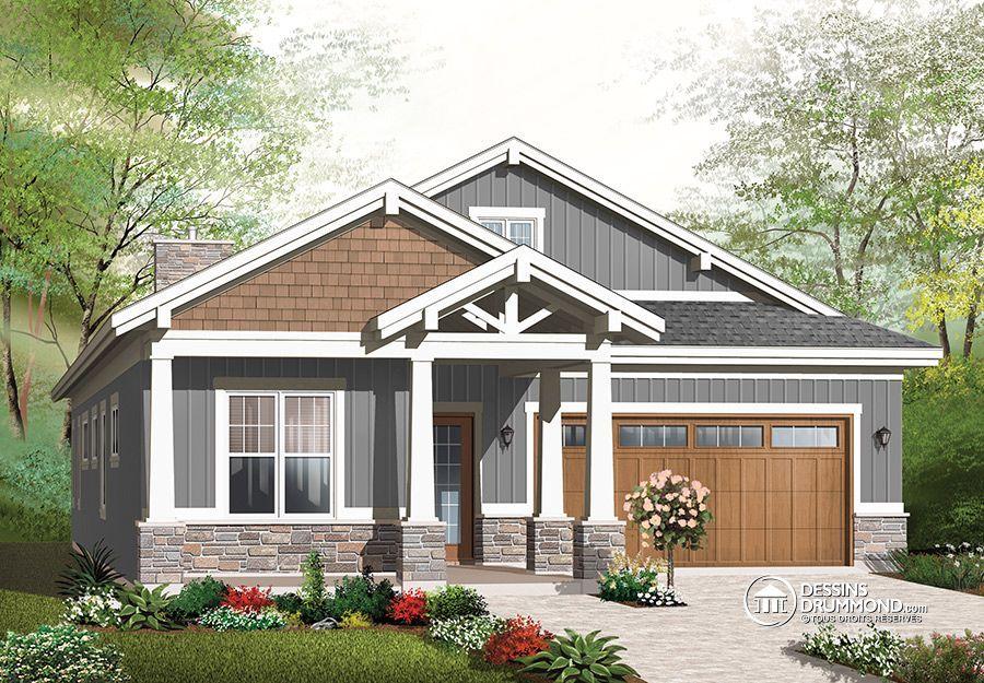 Plan de Maison unifamiliale no. 3240ES de Dessins