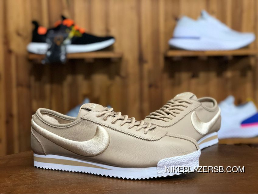 Nike Cortez 72 Si 881205 101 Retro Originals Classic Running Shoes Baby Brown Brown White White New Release