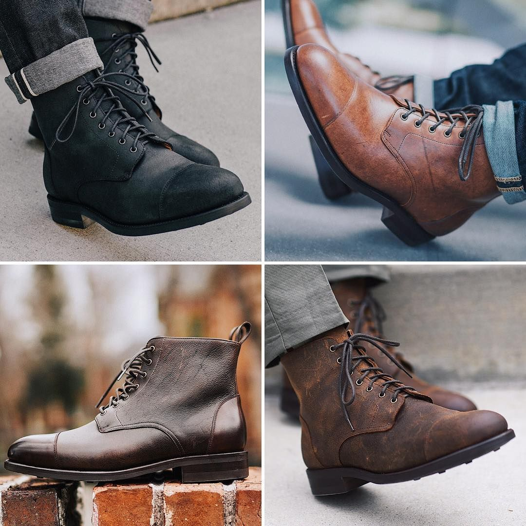 The Taft Dragon Boot in Midnight, Nutmeg, Coffee and Rust
