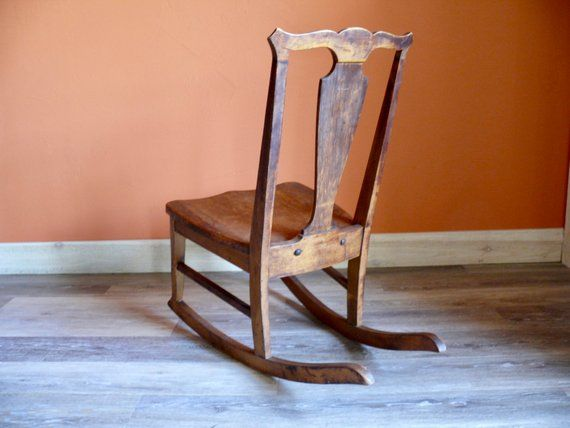 Terrific Ladies Queen Anne Wood Sewing Rocking Chair Vintage Gamerscity Chair Design For Home Gamerscityorg