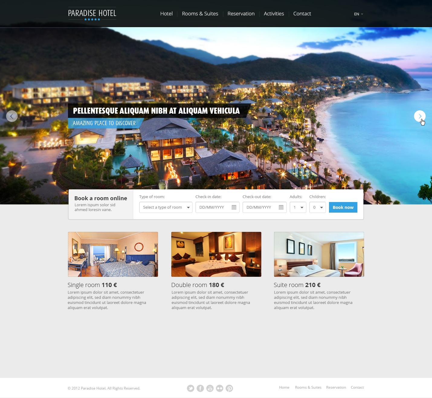 Nett Hotel Website Vorlagen Kostenlos Zeitgenössisch - Entry Level ...