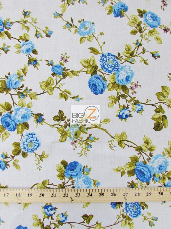 Polycotton Fabric Small Purple Flower Floral Sold Per Half Metre New Bunting