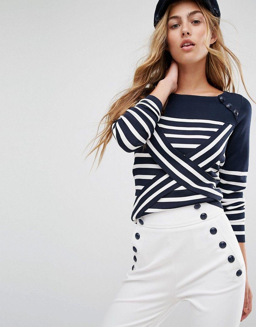 2b00e31756e Tommy+Hilfiger+TommyxGigi+Cross+Over+Stripe+Knit+Jumper | Style ...