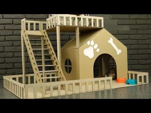 How To Make An Amazing Puppy Dog House From Cardboard Cat House