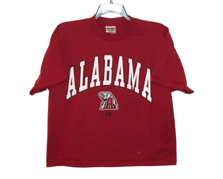 Vintage University Of Alabama Crimson Tide Big Al Crimson Red Etsy Alabama Shirts Cotton Labels Shirts [ 2400 x 3000 Pixel ]