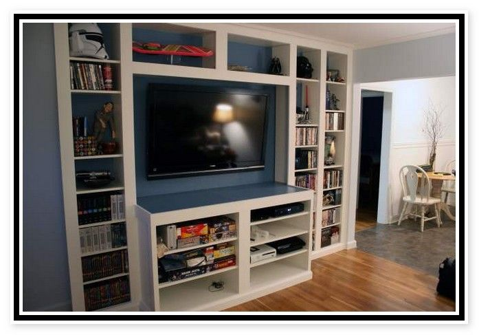 Ikea Billy Bookcase Entertainment Center Furniture Home Design
