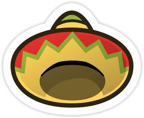 The sombrero sticker from the official artwork set for papermario stickerstar on nintendo3ds