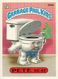 264 Pete Seat Noel Bowl Garbage Pail Kids Garbage Pail Kids Cards Kids Series