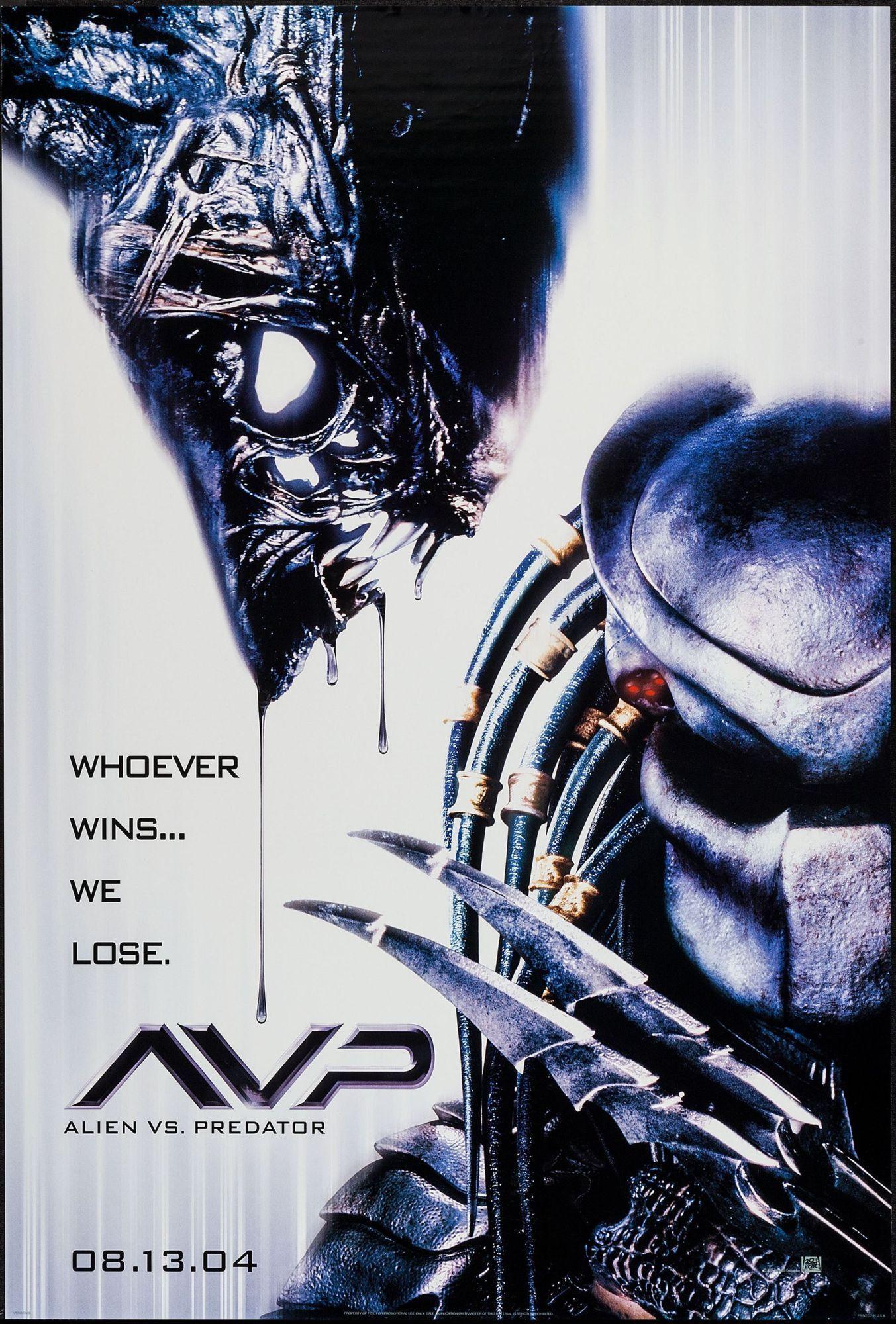 Alien Vs Predator Avp Movie Poster Depredador Pelicula Pelicula De Extraterrestres Alien Vs Depredador