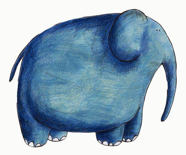 рудова смешные рисунки слона является