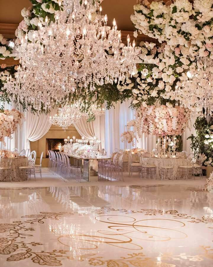 White Luxury Wedding Decor With Wonderful And Beautiful: Beautiful White Wedding Reception! Includes A Hanging Wall