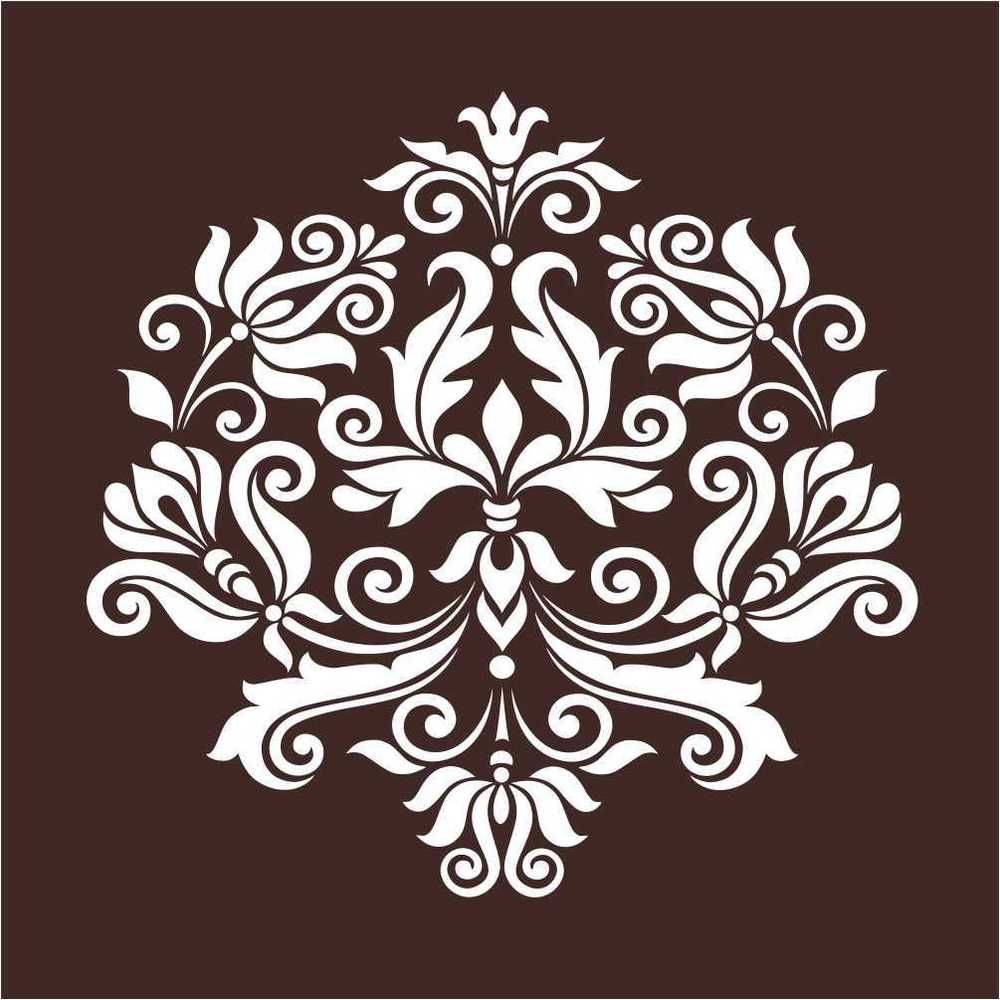Large Wall Damask Stencil Pattern Home Decor  Crafts, Home Arts