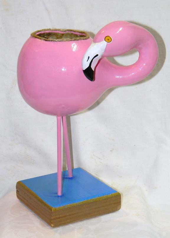 Flamingo Gourd Planter
