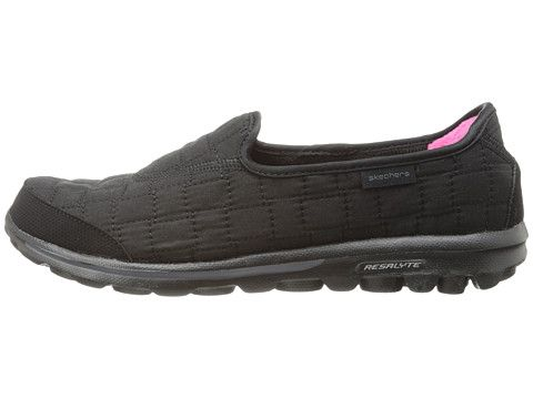 Skechers Performance Go Walk Coziness Black, Skechers, Shoes, Black