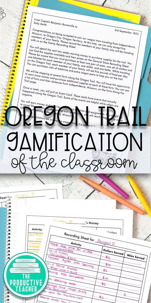 Classroom Game The Oregon Trail Common Core 7th Grade