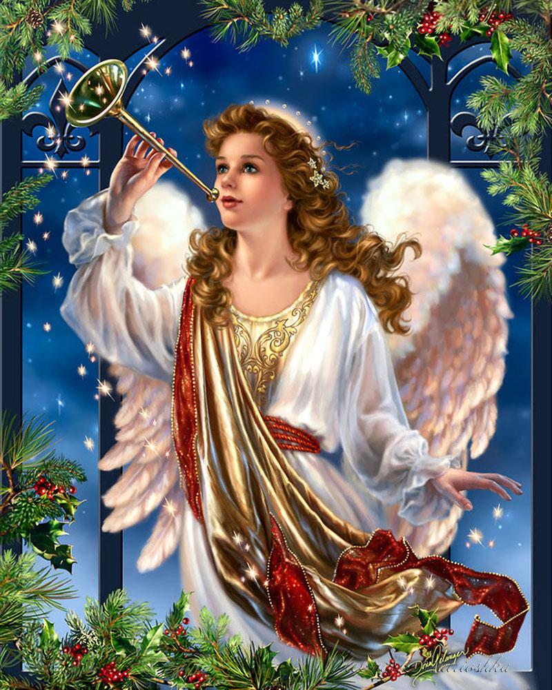 Маме, картинки ангелы с рождеством