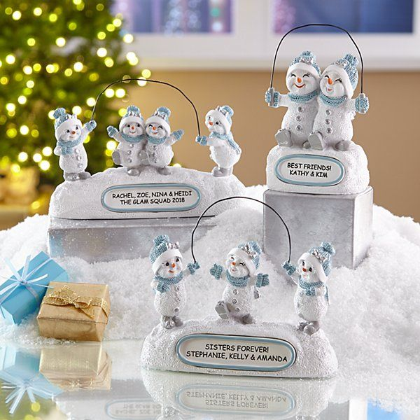 christmas personalized figurine snow buddies gifts creations personalcreations personal gift some custom special buddy unique presents