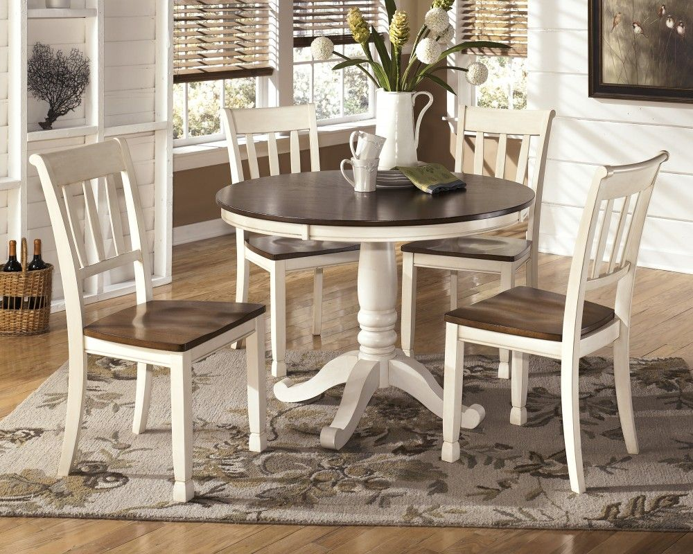 Whitesburg Round Dining Room Table 4 Side Chairs Round Dining