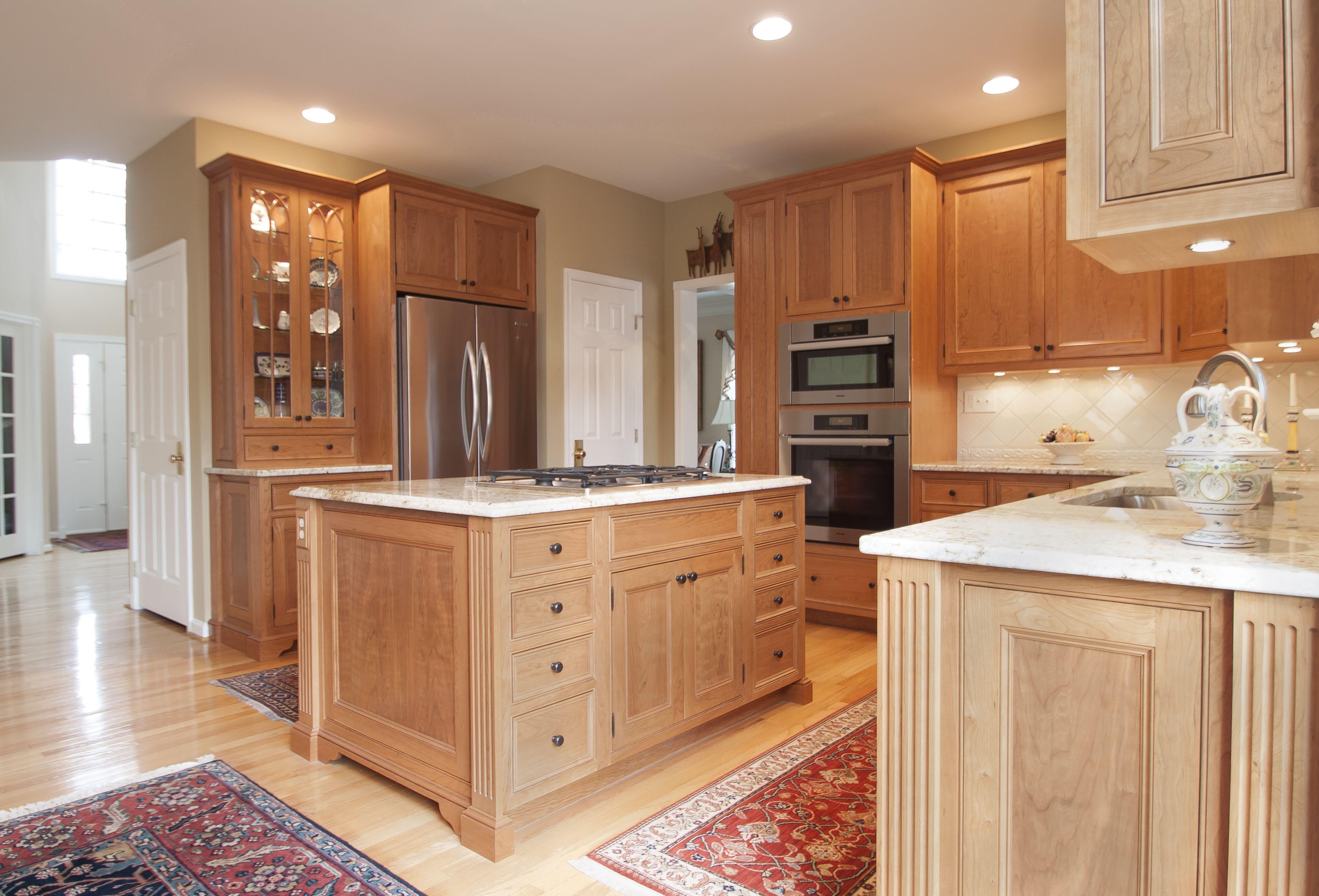 Cherry Wood Cabinets with Nutmeg Finish   Cherry wood ...