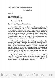 Loss Mitigation Specialist Cover Letter Example Blank Free