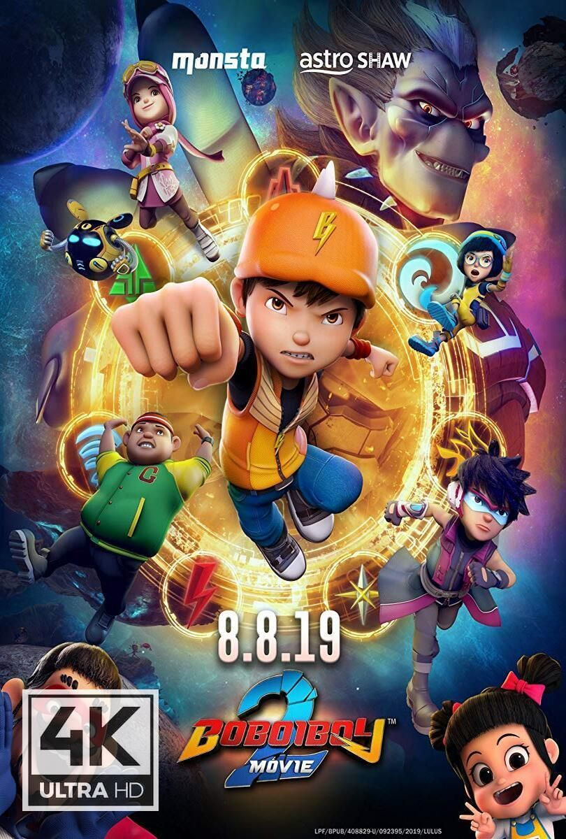 4K Ultra HD BoBoiBoy Movie 2 (2019) Watch & Download