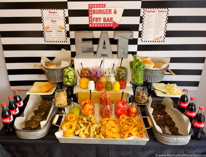 Burger and Fry Bar Ideas plus Free Printables - Moms ...