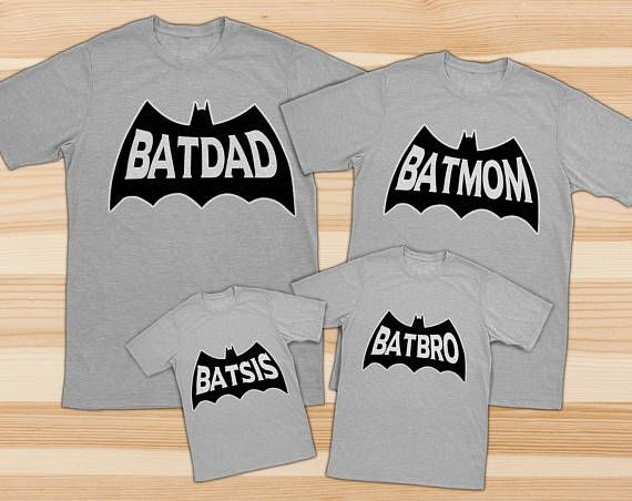 Family shirts family matching shirts batdad shirt batman | gifts ...