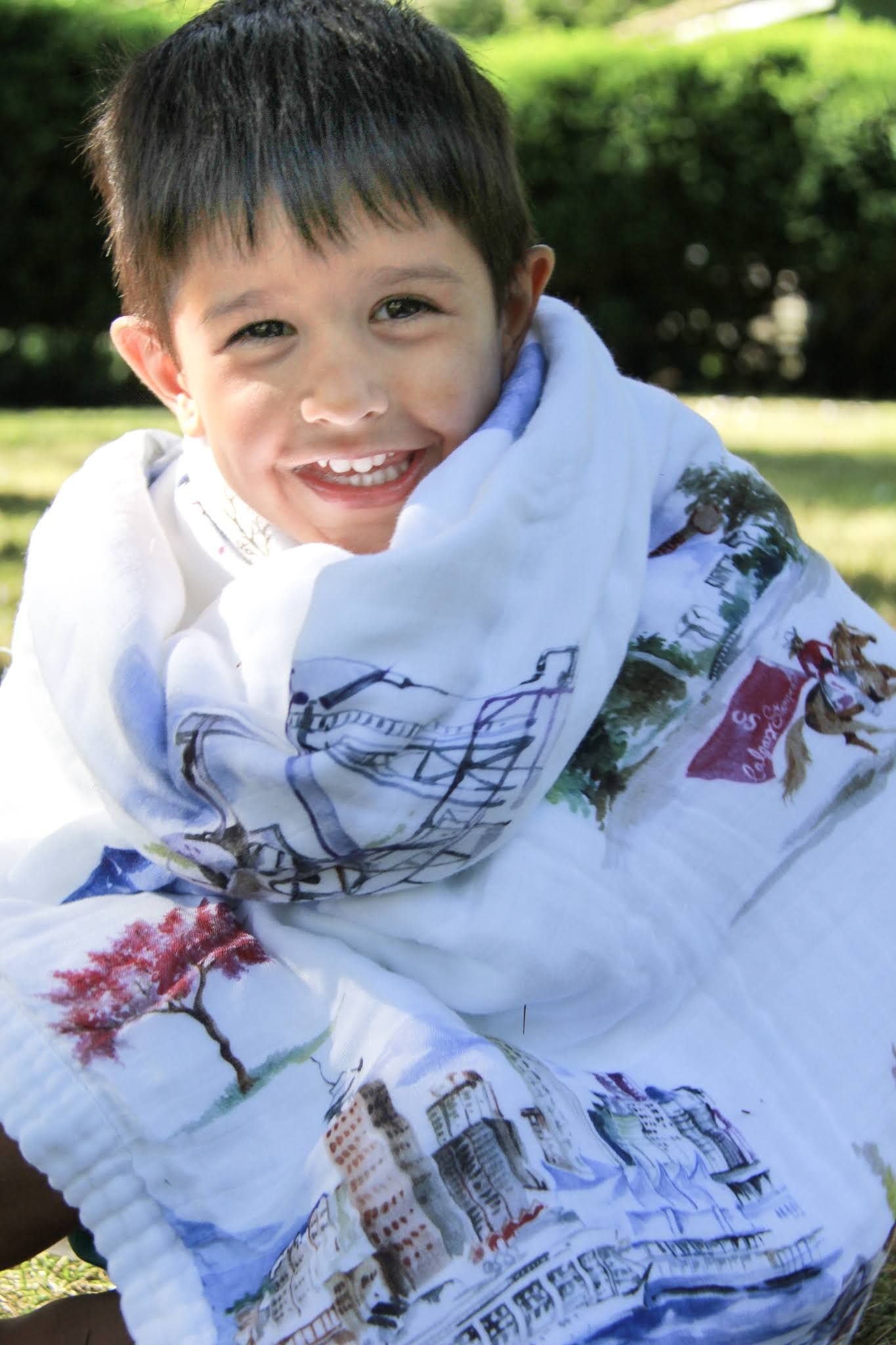 c4198e4560e Looks like he s loving wrapping himself in this warm cozy quilt with  designs featuring the great white north...Yup That s Canada  baby  babies   blanket ...