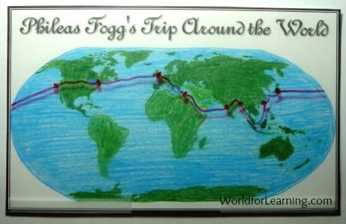 Mapping Fogg\'s Trip Around the World in Eighty Days | Book ...