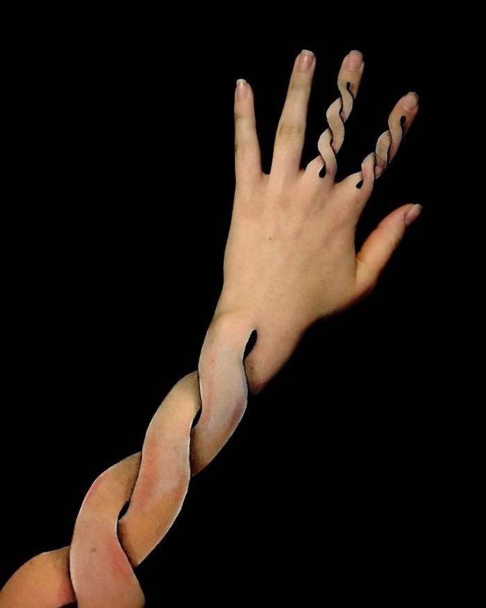 I Turn My Arms Into Optical Illusions
