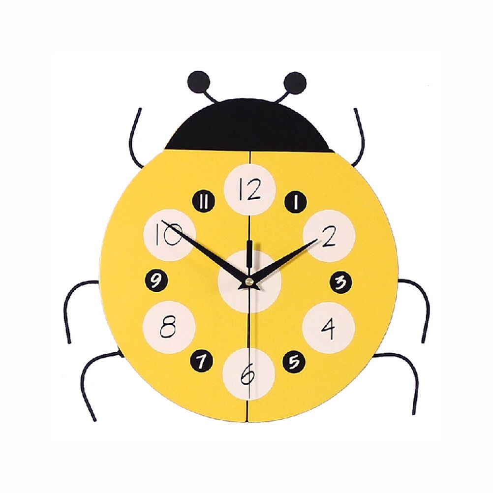 Cartoon Ladybird Wall Clock for Room Decoration mute wall clocks ...