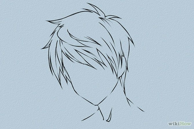 draw anime hair anime male anime and anime hair