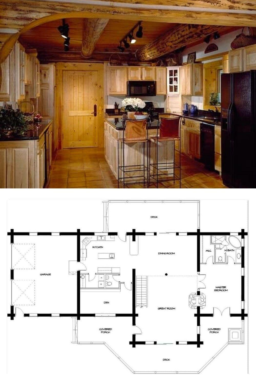 Two Story 3 Bedroom Timber Meadow Log Cabin Floor Plan Cabin House Plans Log Cabin House Plans Mansion Floor Plan