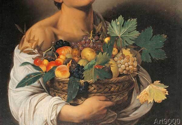 Michelangelo Merisi Caravaggio - Boy with a Basket of Fruit