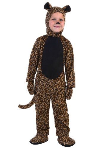 Girls Boys Kids Furry Leopard Cat Animal Christmas Fancy Dress Costume Outfit