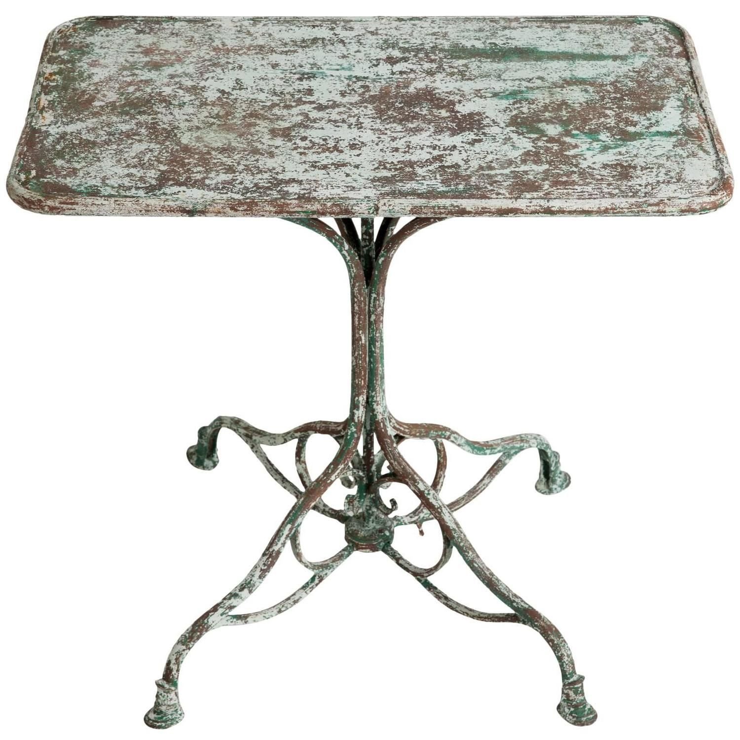 white iron outdoor furniture. White Wrought Iron Garden Furniture. French Antique Table From Arras, Circa Outdoor Furniture
