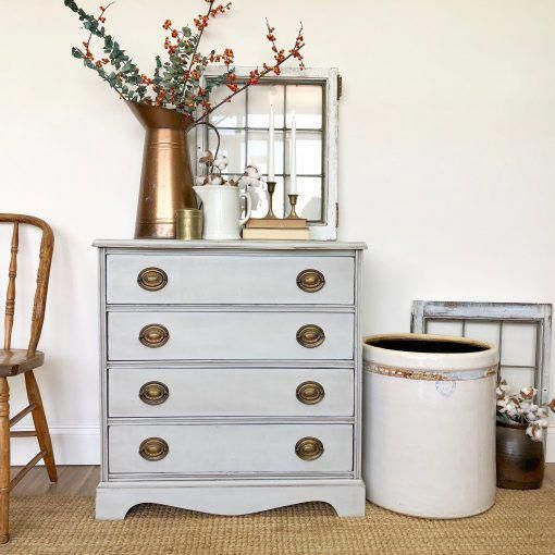 Gray Nightstand, Farmhouse Furniture, Small Chest of Drawers, Oversized  Nightstand, Antique Painted Furniture #BuyingList - Gray Nightstand, Farmhouse Furniture, Small Chest Of Drawers