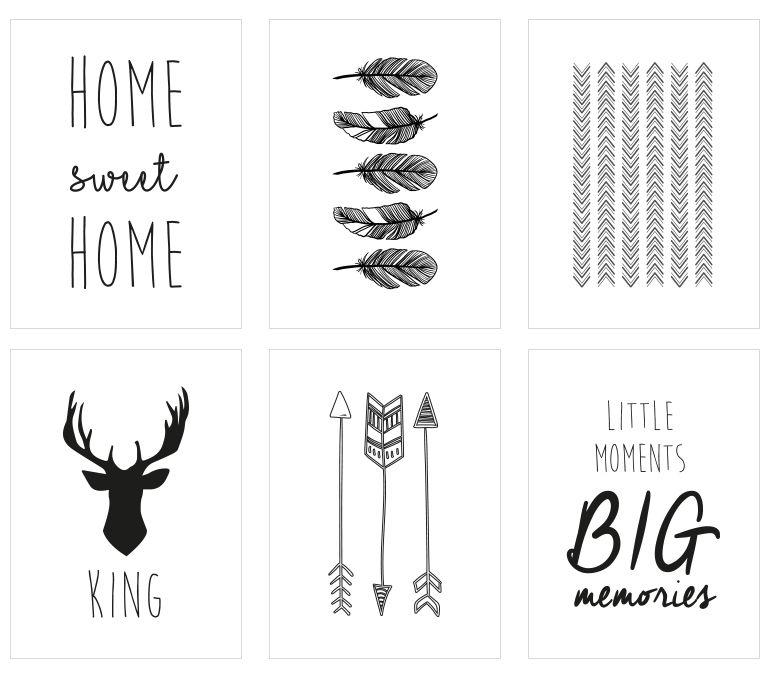 mes petites tambouilles d co diy 3 cadres scandinaves free printable design de mur. Black Bedroom Furniture Sets. Home Design Ideas