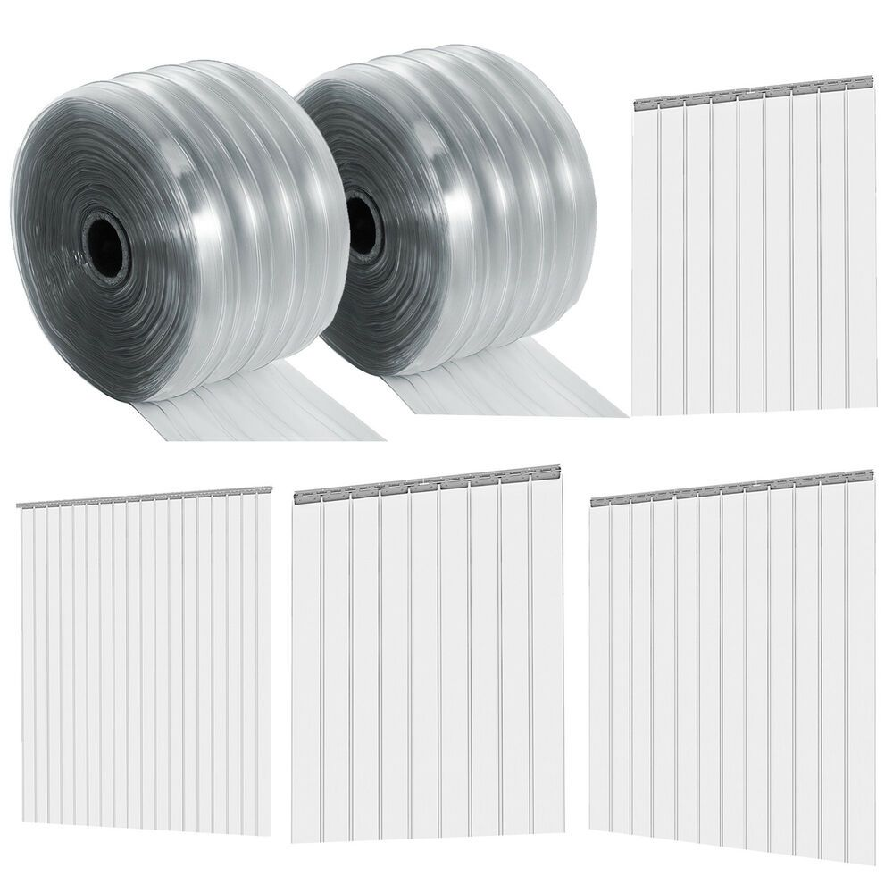Ribbed Pvc Plastic Strip Curtain Roll For Walk In Warehouse Door
