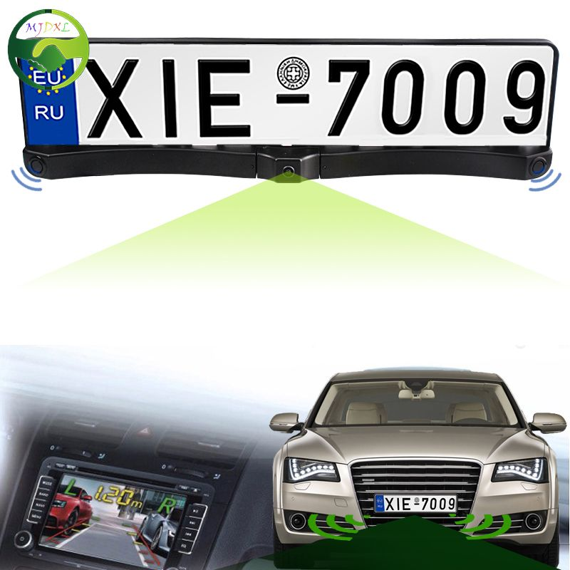 3 In 1 Car High Quality Russia European License Plate Frame Front ...