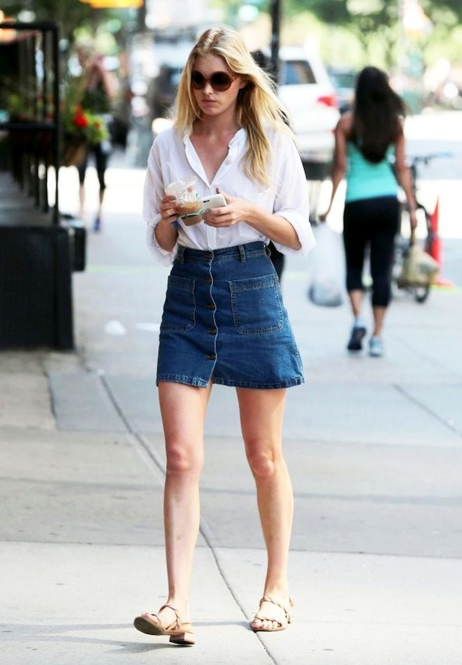 Le Fashion Blog Elsa Hosk Model Off Duty Summer Street Style 70s ...
