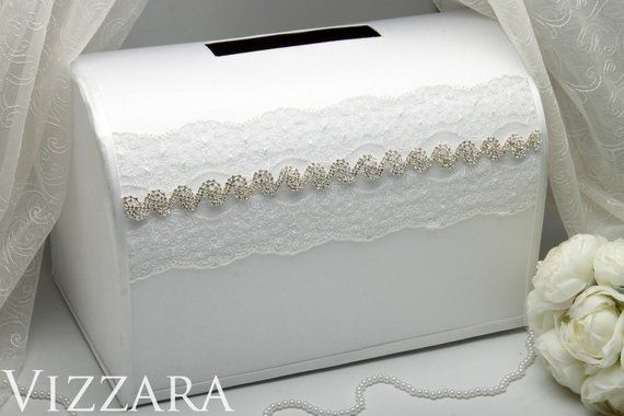 Wedding Silver Box For Wedding Post Box For Envelopes Wedding Gift