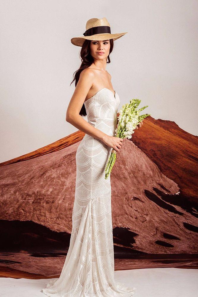$815 STONE COLD FOX Market Gown bridal mermaid wedding dress ...