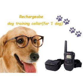 Remote Control Dog Training Transmitter & Rechargeable Collar , 100 Level Shock and Vibration $45.99